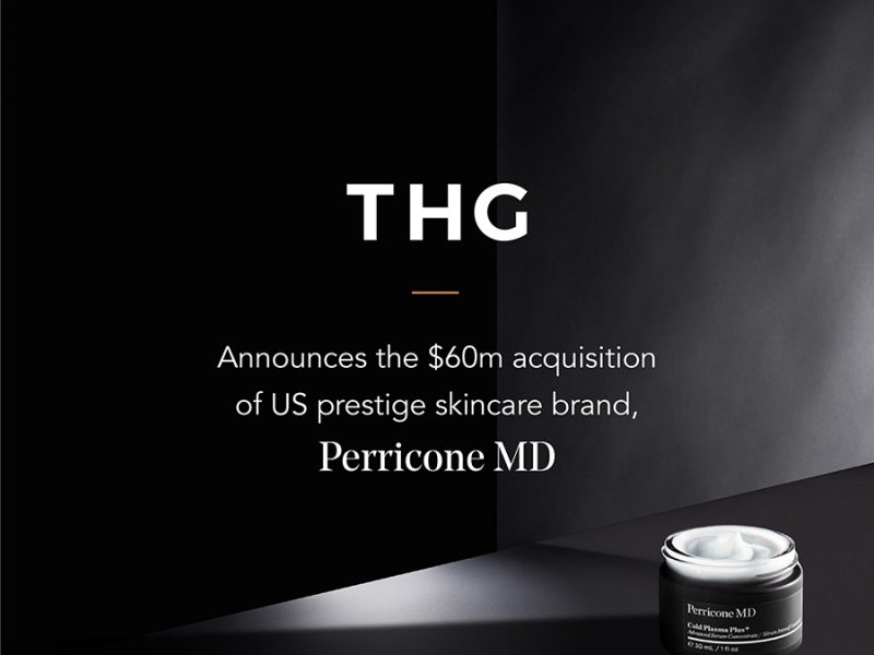 THG ACQUIRES LUXURY SKINCARE BRAND PERRICONE MD